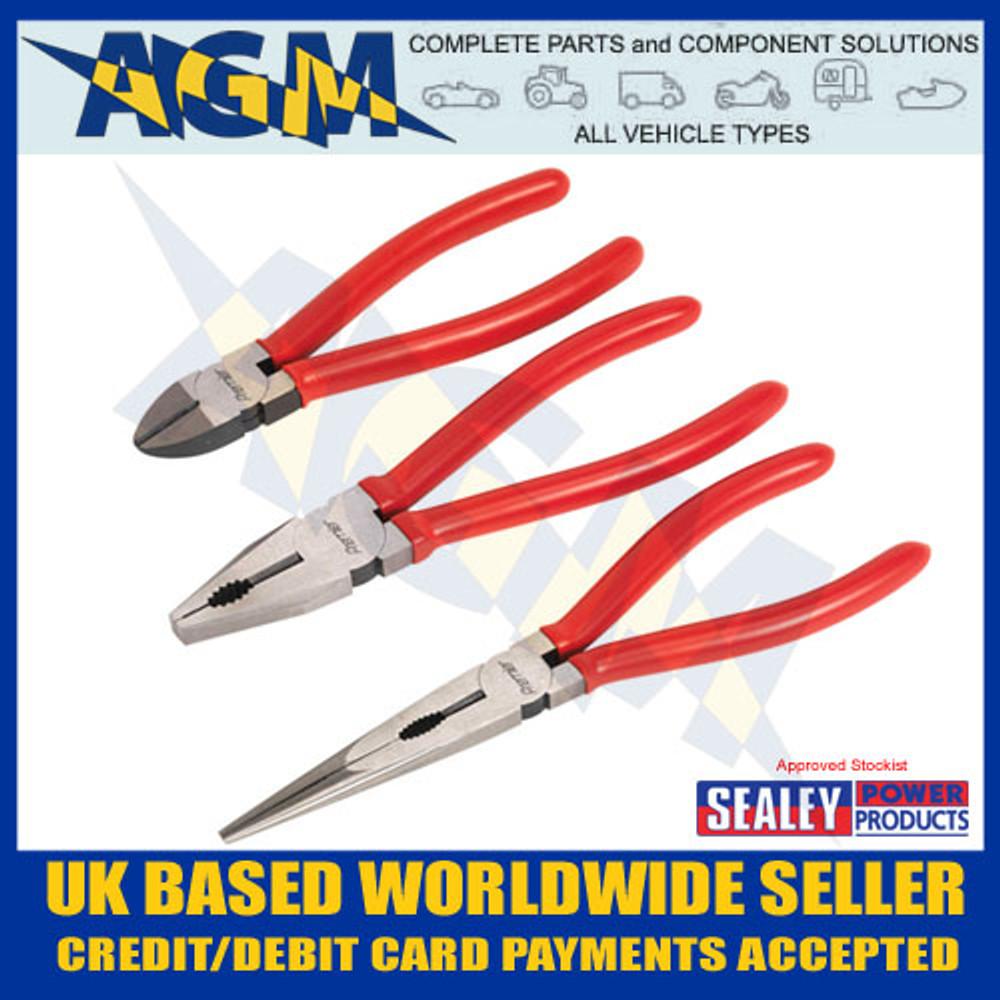 AK8564 Sealey Pliers 3 Piece Set