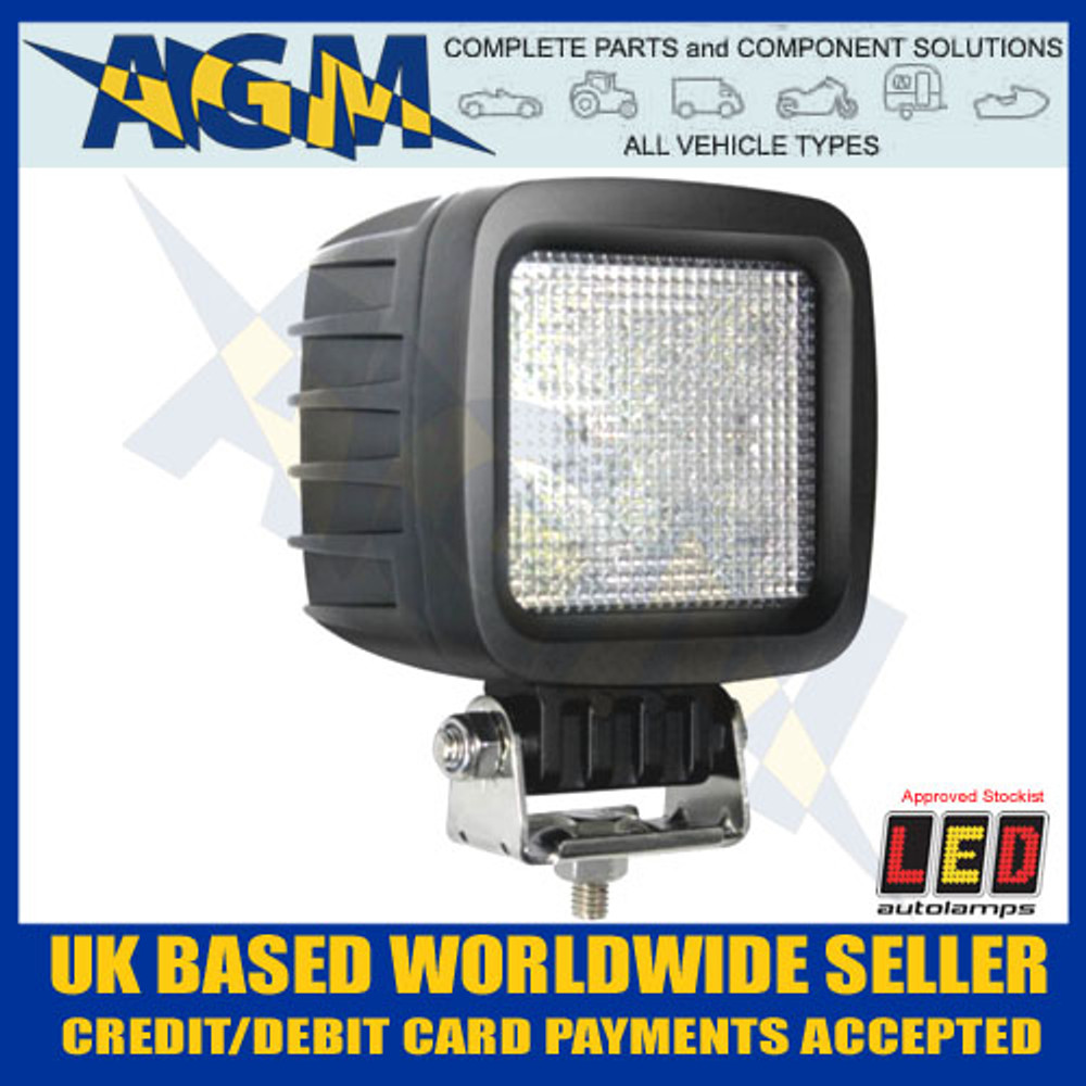 LED Autolamps 10030BM Square High Powered Flood Lamp 12/24v