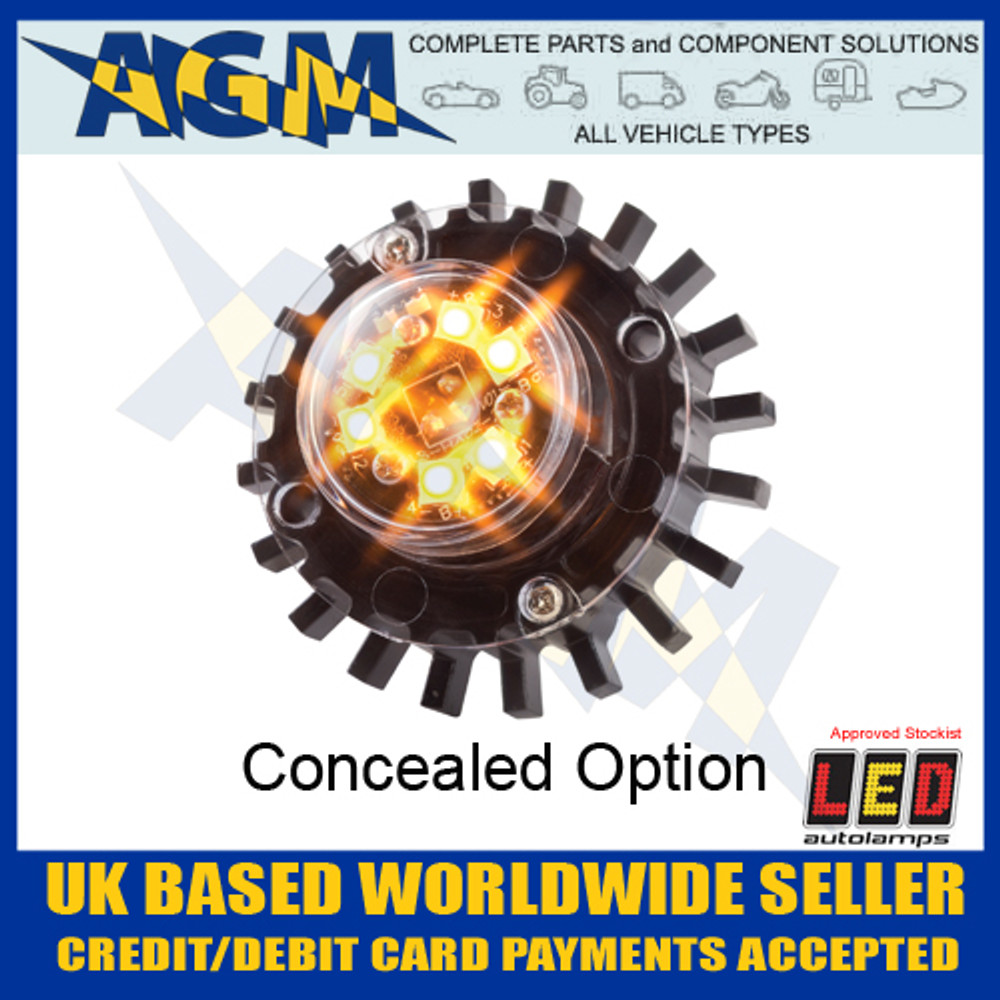 Led Autolamps HALED6DVA Hideaway Covert Warning Lamp 12/24v
