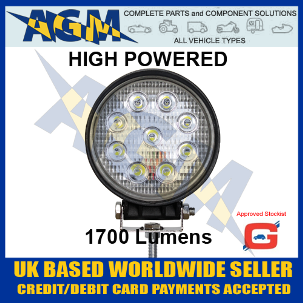 Guardian WL52HP 9 LED 1700 Lumens 12-24v Search Light or Work Lamp