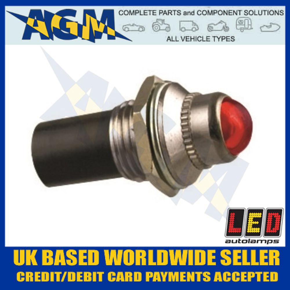 led, autolamps, plr12, red, 12v, pilot, light
