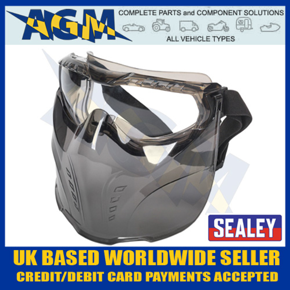 sealey, spp76, safety, goggles, detachable, face, shield