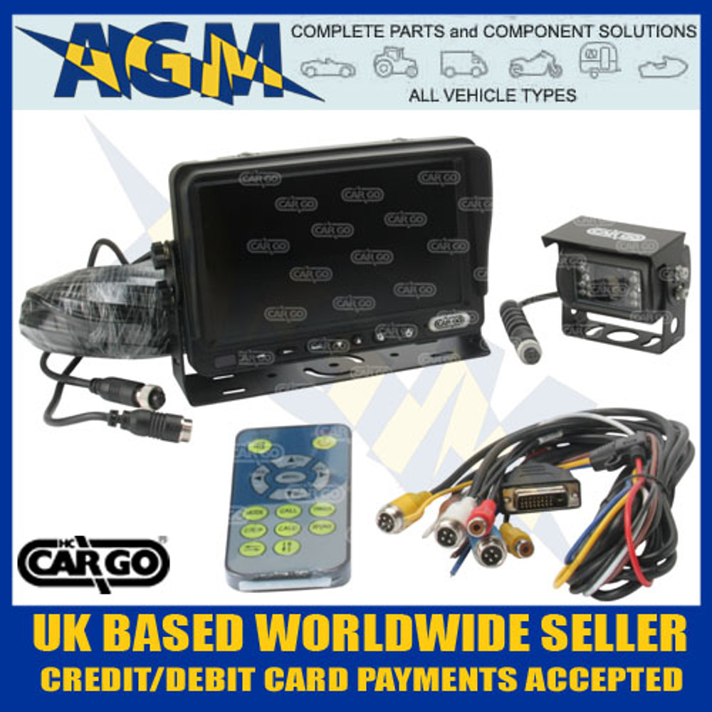 "cargo, 161051, cctv, 7"", colour, monitor, reversing, camera, kit, 12v, 24v"