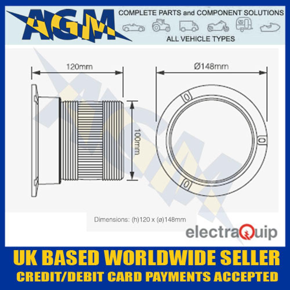 Electraquip EQPR10ABM Three Bolt R10 LED Amber Beacon