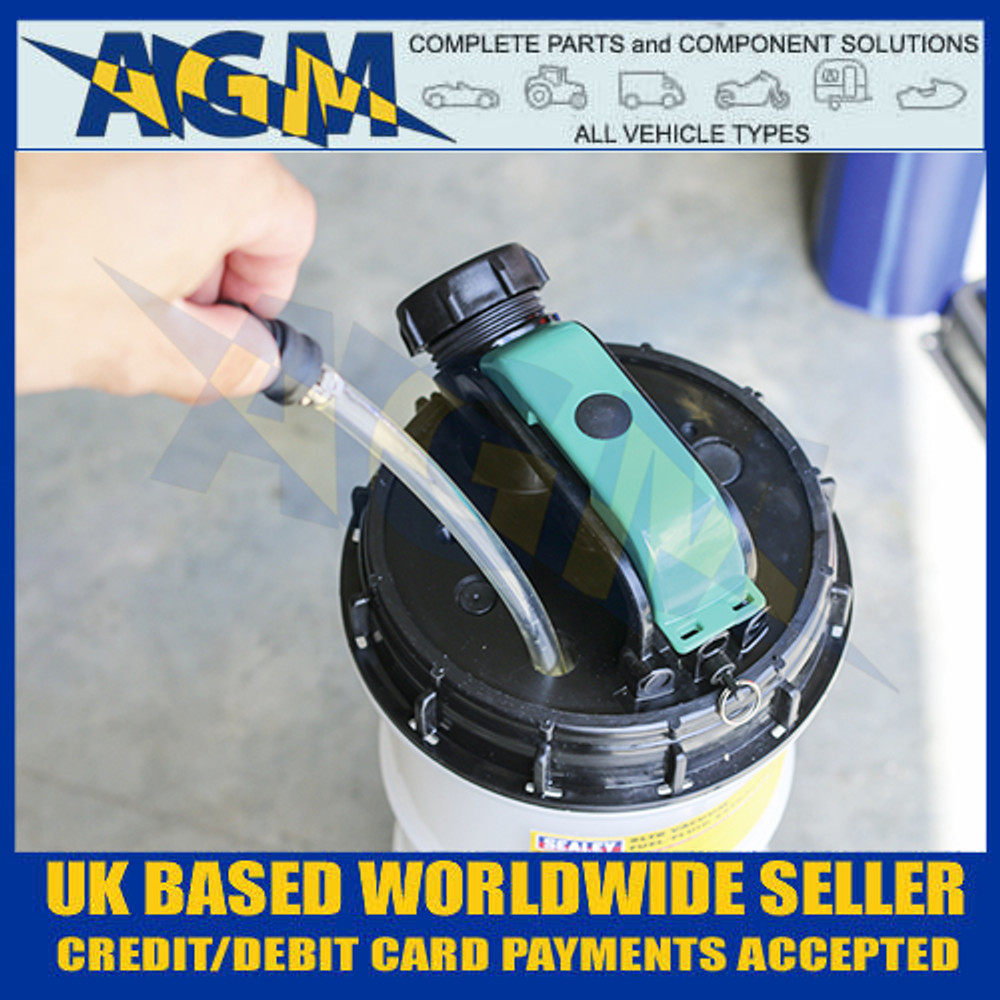 Sealey TP204 8 Litre Capacity Vacuum Oil/Fuel/Fluid Extractor - Pipe Storage