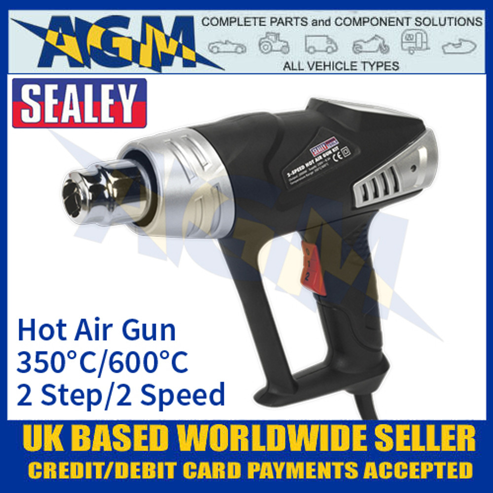 Sealey HS103K Hot Air Gun Kit 2-Step 2-Speed 350°C/600°C 2000W