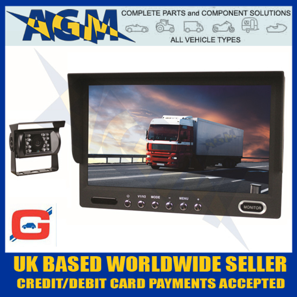 "Guardian CCTV24A Reverse Camera System 7"" Colour Screen"