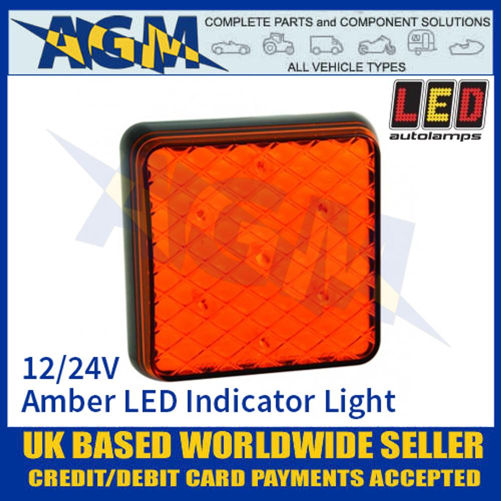LED Autolamps 81AM LED Amber Indicator Light Lamp 12/24v