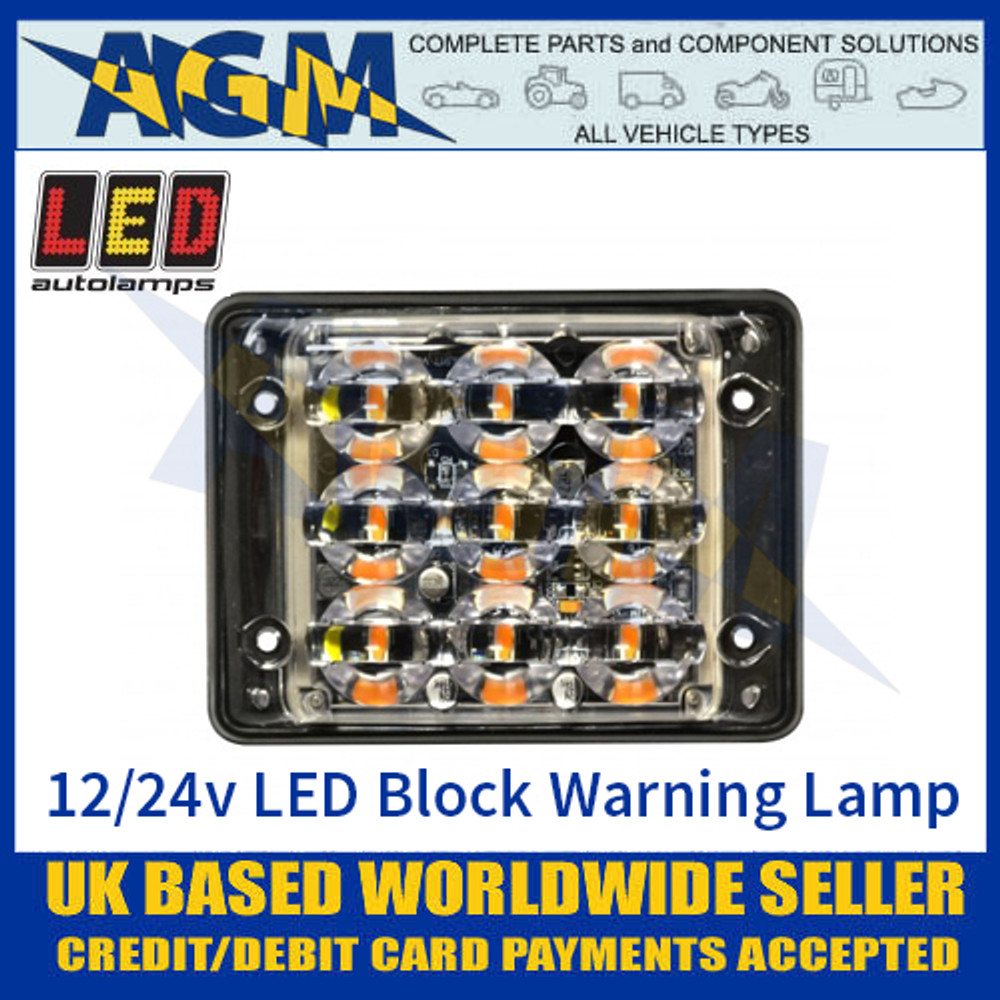 LED Autolamps SSLED93DVA Super-Slim 9 Block LED Warning Lamp