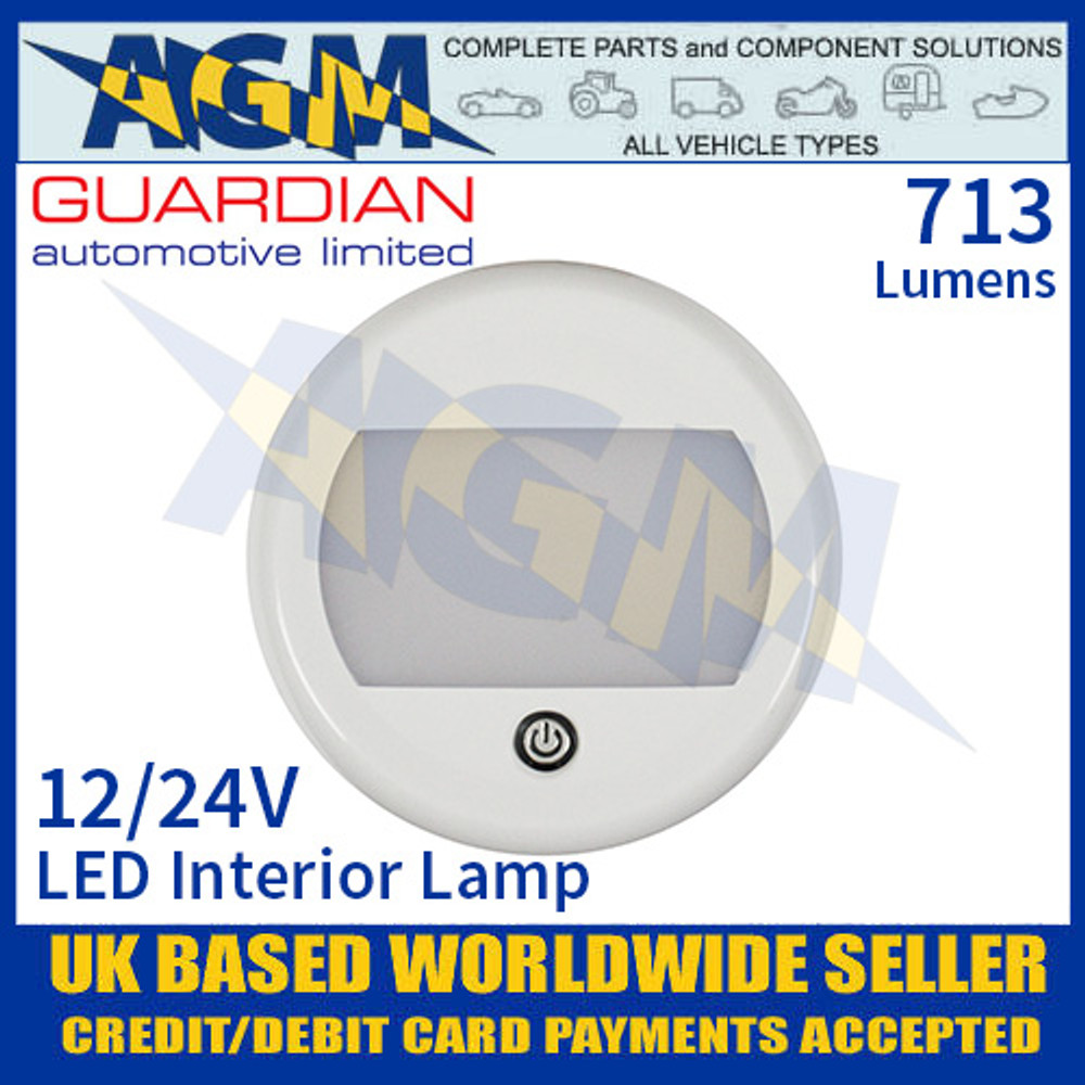 Guardian Automotive INT52 LED Interior Light with On/Off Switch 12/24V