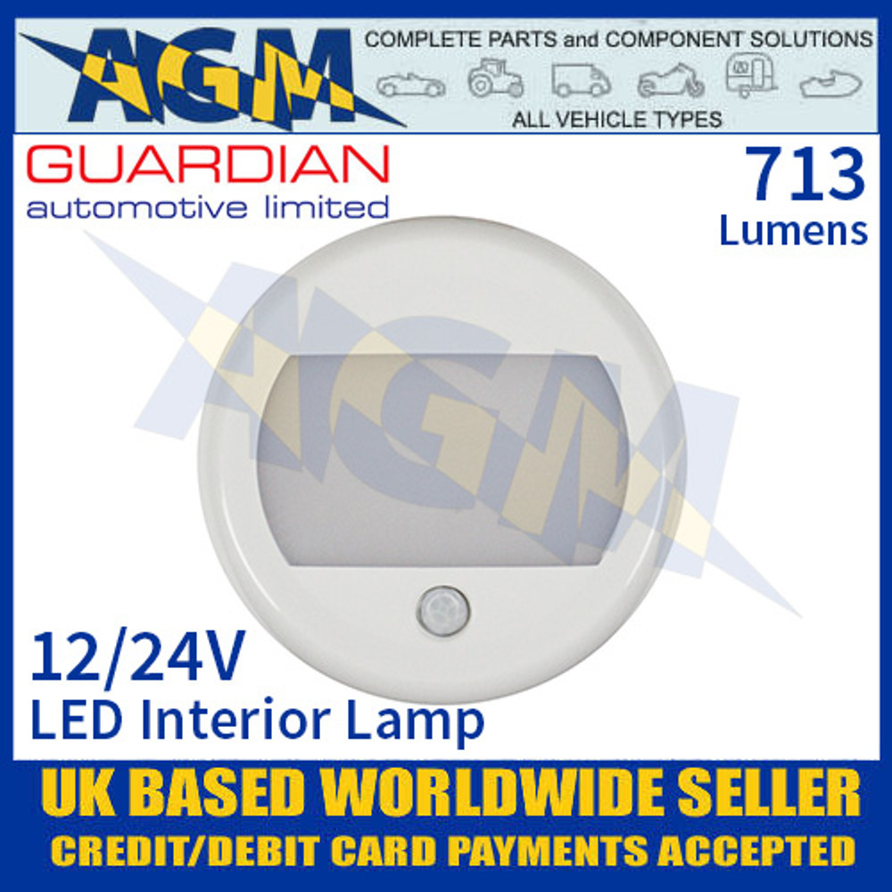Guardian Automotive INT53 LED Interior Light with PIR Sensor 12/24V