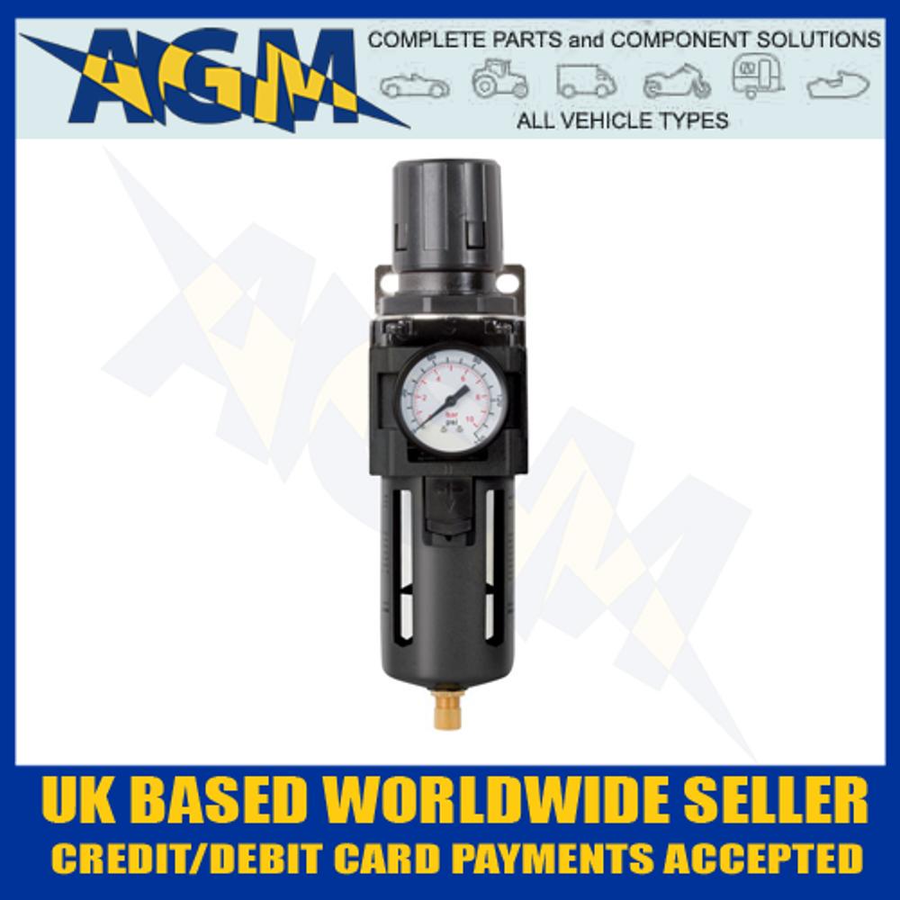 """Jamec 06.2432, 1/2"""" BSP Air Pressure Filter Regulator And Gauge"""