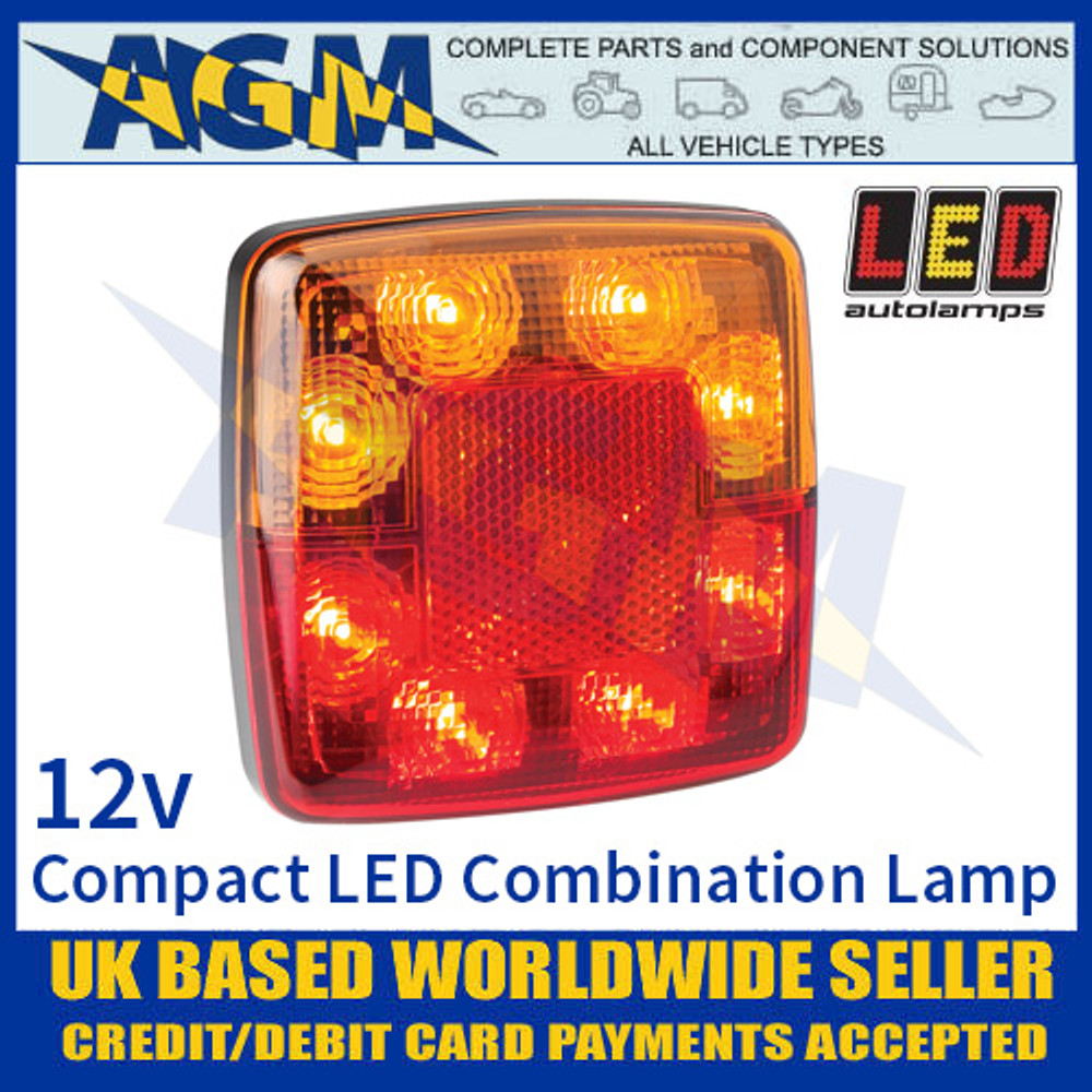 LED Autolamps 98BAR 4 Function LED Compact Rear Combination Lamp 12V