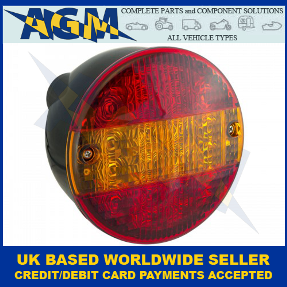 LED Auto-Lamps HBL140STIM Hamburger Stop,Tail And Indicator Lamp 12-24 Volt