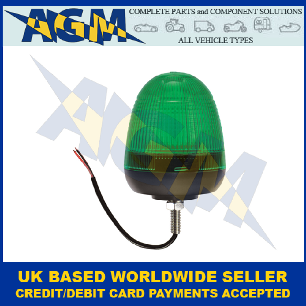 Guardian AMB74G, LED Green Beacon Single Bolt Fixing 12/24v