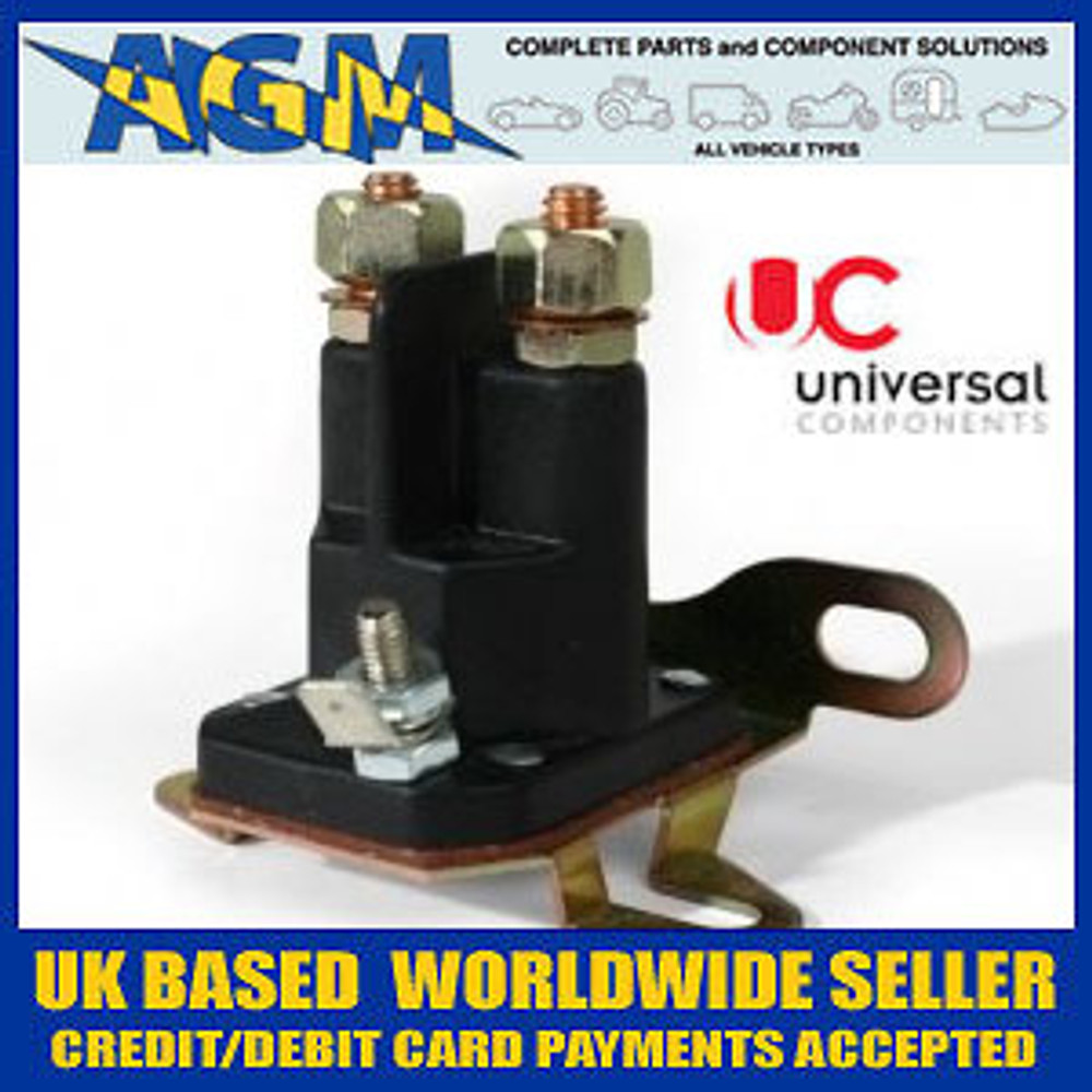 Universal 3 Pole Solenoid Switch for Ride-on Lawnmowers + Garden Tractors