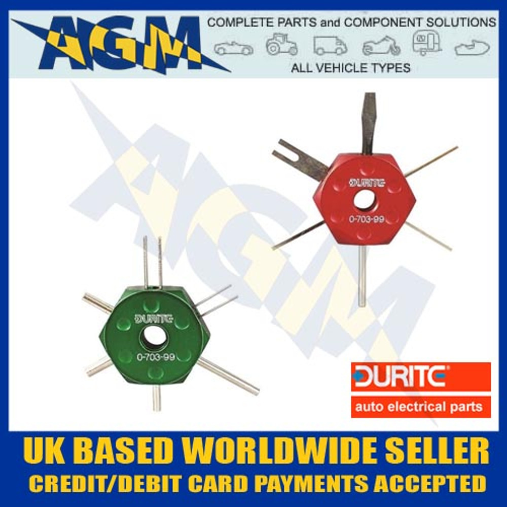 Durite 0-703-99 Terminal Extraction / De-mounting Tool Set