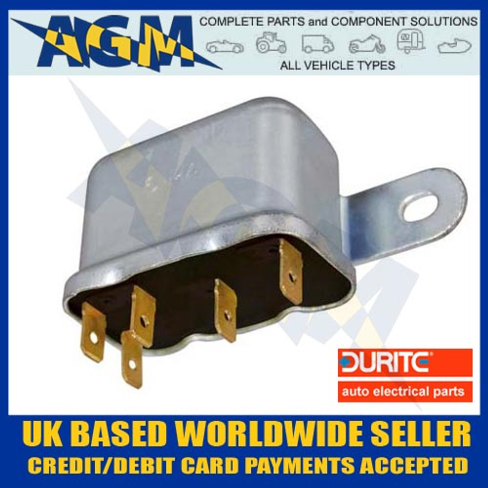 Durite 0-727-20 Relay, 12 Volt 30 Amp, 6RA Type Make or Break Relay
