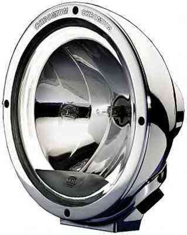 "Hella 1F8 007 560-211 Chrome Luminator Driving Lamp With Celis ""Angel Eye"" Ring"
