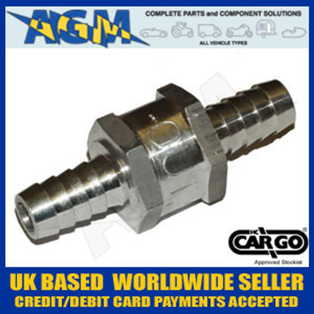 Cargo 080786 Universal One Way/Non Return Valve 10MM - Fuel: Diesel, Petrol, Bio
