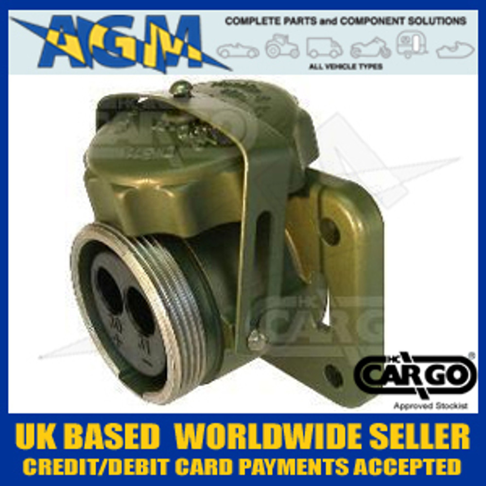 Cargo 180197 Heavy Duty Nato Type Socket Assembly 24v, 200 AMP, 2 PIN