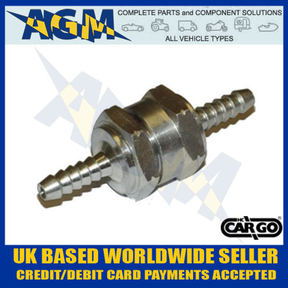 ONE Way/Non Return Valve 6mm - Fuel Diesel Petrol Bio - Universal Fitment