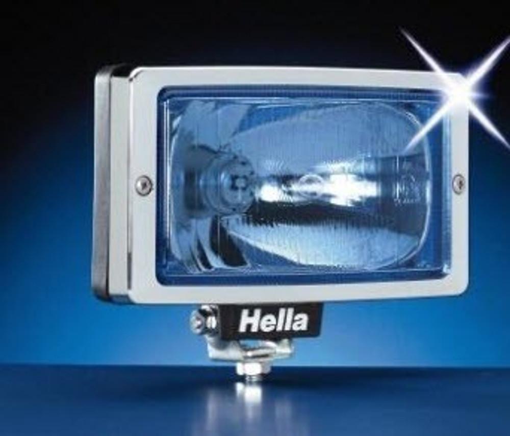 Brand New Hella Jumbo 220 BLUE Lens Glass Driving/Spot Lamp - Chrome