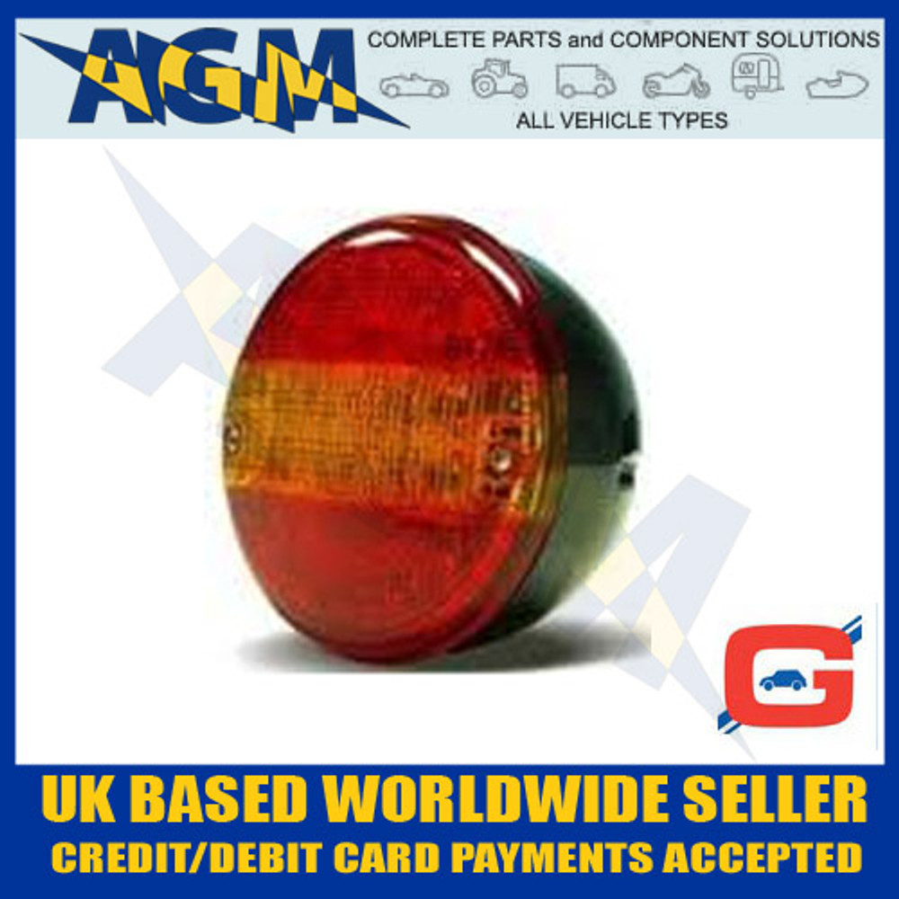 Circular LED Truck & Trailer Hamburger Style Rear Lamp 12V/24V 3 Function
