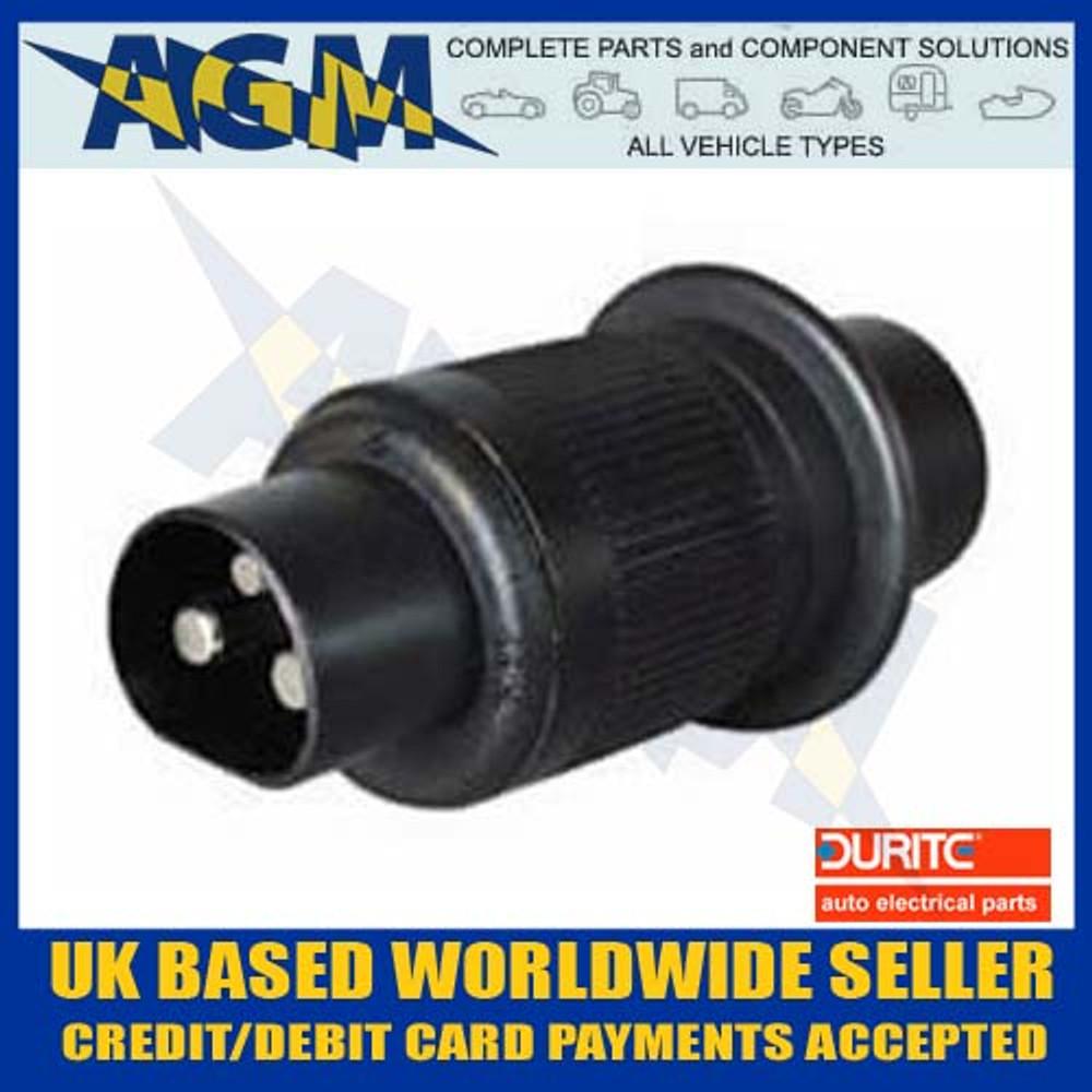 durite, 0-365-16, non, reversable, 3 pin, trailer, plug, 130307, socket