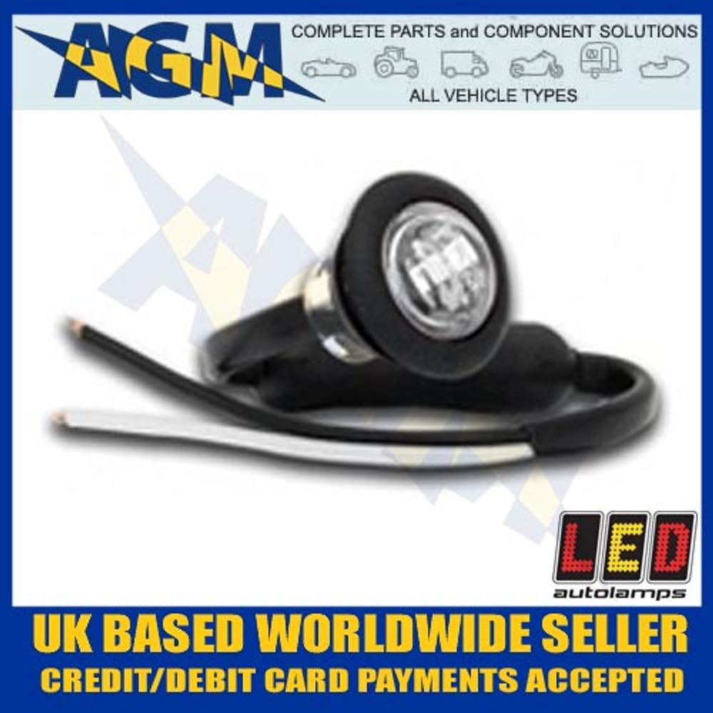 led, 181wme, trailer, round, front, marker, light, lamp, white, 12v, 24v