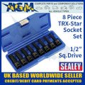ak5602, sealey, impact, trx, star, socket, bit, set