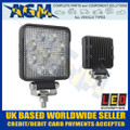 led, autolamps, 10015bm, square, flood, lamp, 12v, 24v
