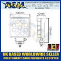 LED Autolamps  10015BM LED Square Flood Lamp 12/24v