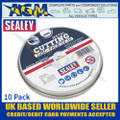 Sealey PTC11510CET Cutting Disc 115 x 1.2mm 22mm Bore Pack of 10