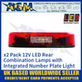 LED Autolamps 99ARL2 with Integrated Number Plate Light