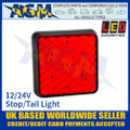 LED Autolamps 81RM LED Stop and Tail Light Lamp 12/24v