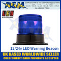 LED Autolamps EQPR10BBM Blue LED Warning Beacon 12v/24v - 3 Bolt Fix