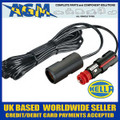 Genuine HELLA Din/Cigar Size Plug with Trailing 4m Extension Lead