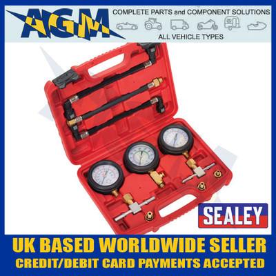 Sealey MS100 3pc Motorcycle Compression & Fuel Pressure Gauge