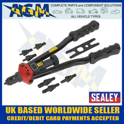 sealey, ak3985, long, arm, threaded, nut, riveter