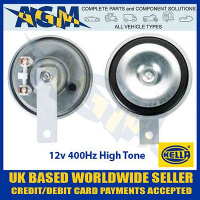 HELLA 3AL002952-811 12v 400Hz Disc Horn (High Tone)