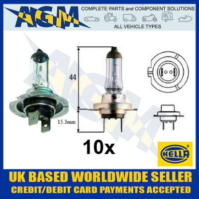 Genuine Hella HB17 24v H7 Halogen Headlamp Bulb (Pack of 10)