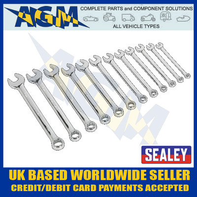sealey, ak63012, combination, spanner, 12pc, metric, premier, range
