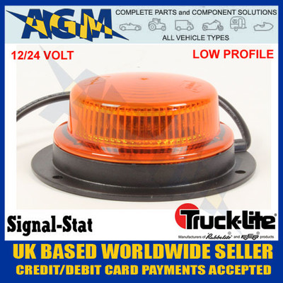 trucklite, ss/11013, ss11013, led, strobe, flashing, amber, low, profile, beacon