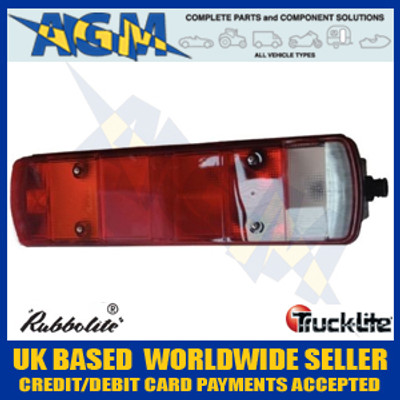 truck-lite, rubbolite,  461din/08/47, scania, lh, rear, lamp, din, plug