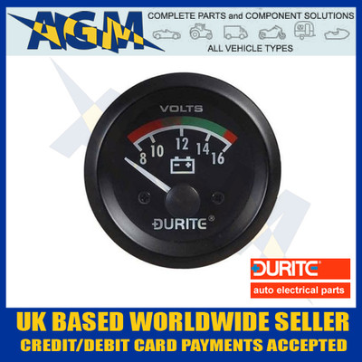 durite, 052322, 0-523-22, marine,12v, volt, meter, gauge, voltmeter, battery, condition