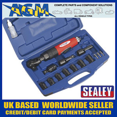 "Sealey Generation Series Air Ratchet Wrench Kit 1/2""Sq Drive"