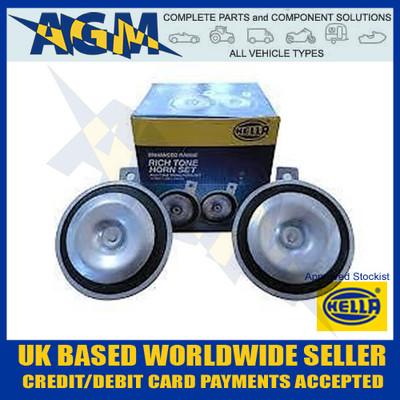 hella, 3am002952891, 12v, horn, dual, tone, disc, 3al002952891