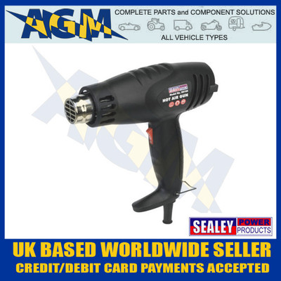 Sealey HS105 1600w 2 Speed Hot Air Heat Gun 370/500 Degrees C
