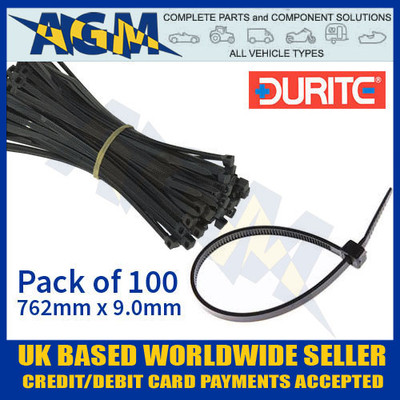 durite, 0-002-69, 000269, black, cable, ties, 762, 9mm